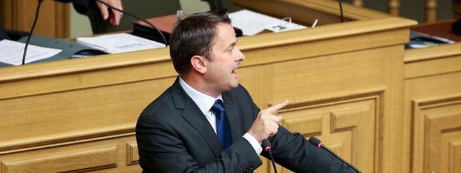 2016 benötigte Premier Xavier Bettel 90 Minuten, um seine Erklärung zur Lage der Nation abzugeben.