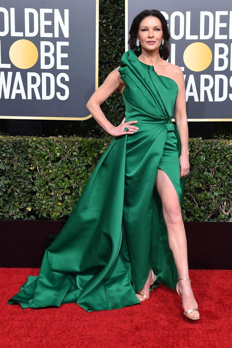 Machte einen auf Angelina Jolie: Catherine Zeta-Jones trug ein Kleid von Elie Saab.