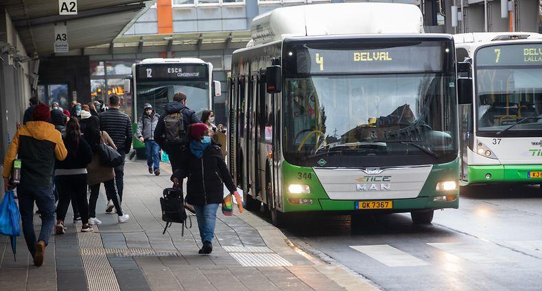 Lokales,Tice Busbahnhof in Esch/Alzette,öffentlicher Transport. Foto: Gerry Huberty/Luxemburger Wort