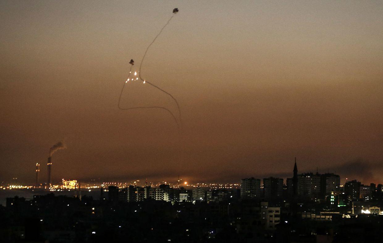 """Das israelische Luftabwehrsystem """"Iron Dome"""" konnte mehrere Raketen abschießen."""