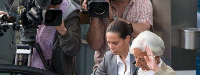 IWF-Chefin Lagarde verließ das Treffen in Brüssel am Mittwochabend sichtlich gestresst.