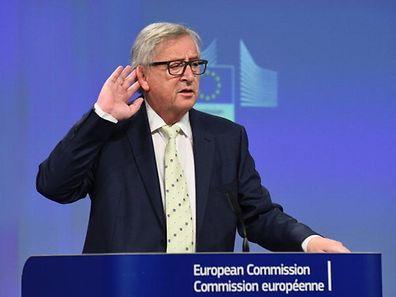 Jean-Claude Juncker (hier bei der Pressekonferenz nach dem Brexit im Juni 2016) steht diesmal aus dem Kreis der Konservatoren in der Kritik.