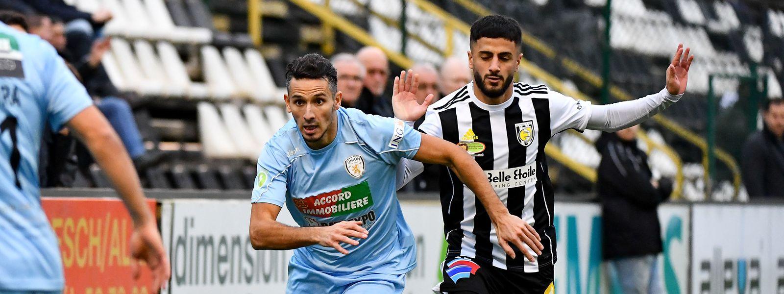 Mounir Hamzaoui et les Pétangeois n'ont pas fait de cadeaux aux Eschois de Mehmet Arslan.