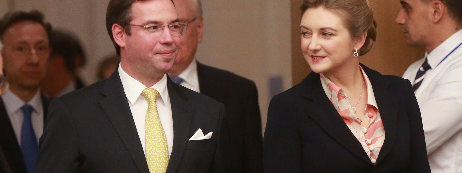 Erbgroßherzog Guillaume und Erbgroßherzogin Stéphanie sind bereits seit sieben Jahren miteinander verheiratet.