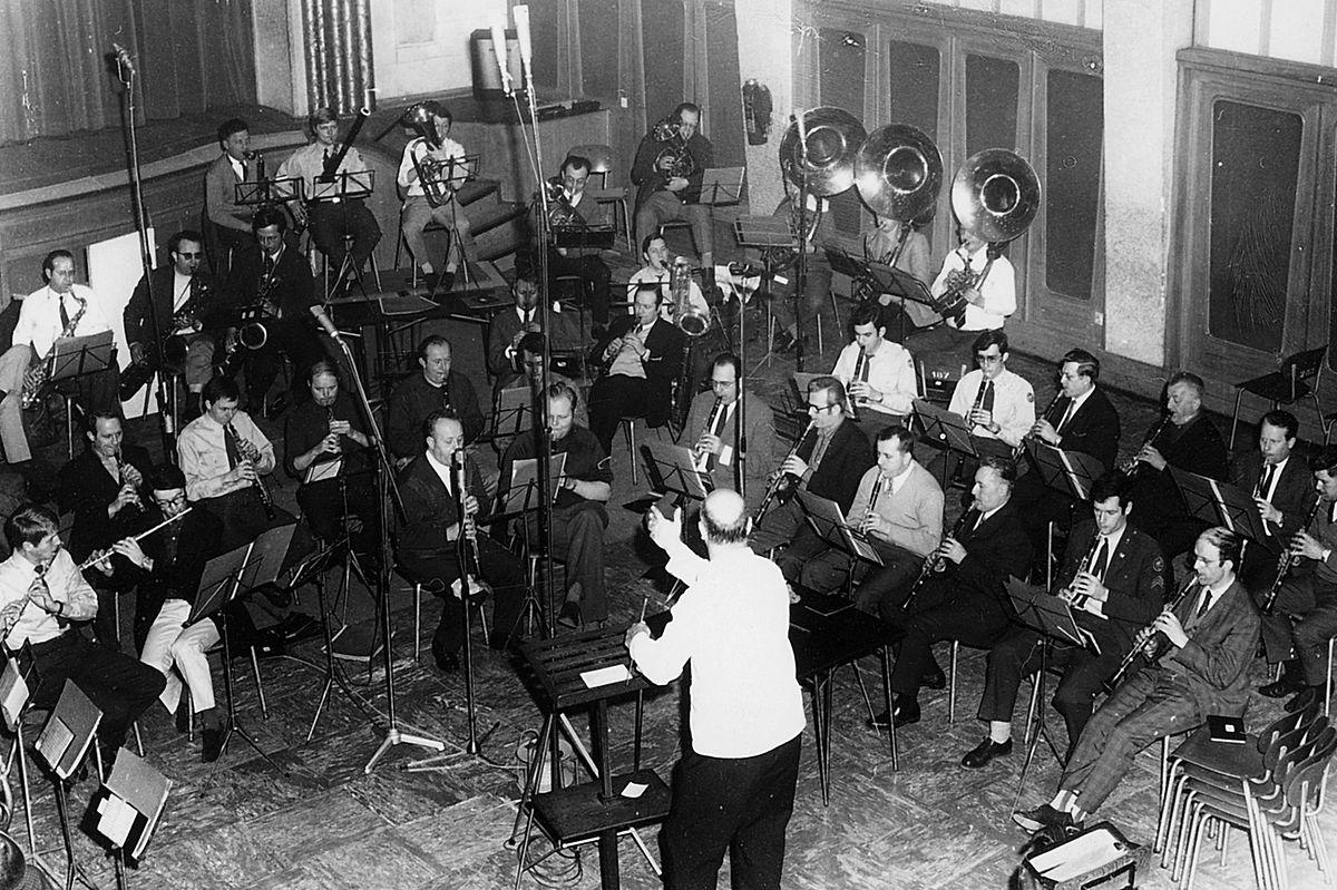 Le musicien à la tête de la musique militaire grand-ducale.