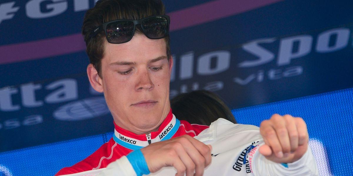 Bob Jungels a de nouveau enfilé le maillot blanc de meilleur jeune à l'issue d'une étape qu'il finit à la quatrième place