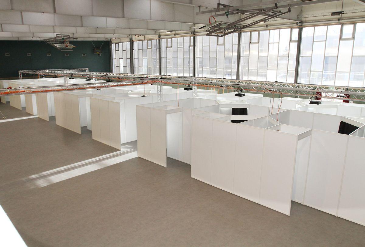 Nächste Woche soll das Ettelbrücker Impfzentrum in der Sporthalle des CHNP einsatzbereit sein.