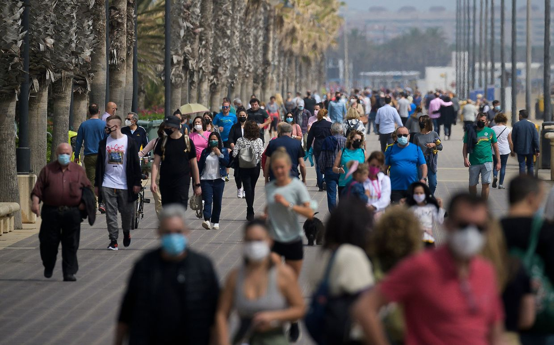 In Valencia waren am Wochenende viele Menschen unterwegs.