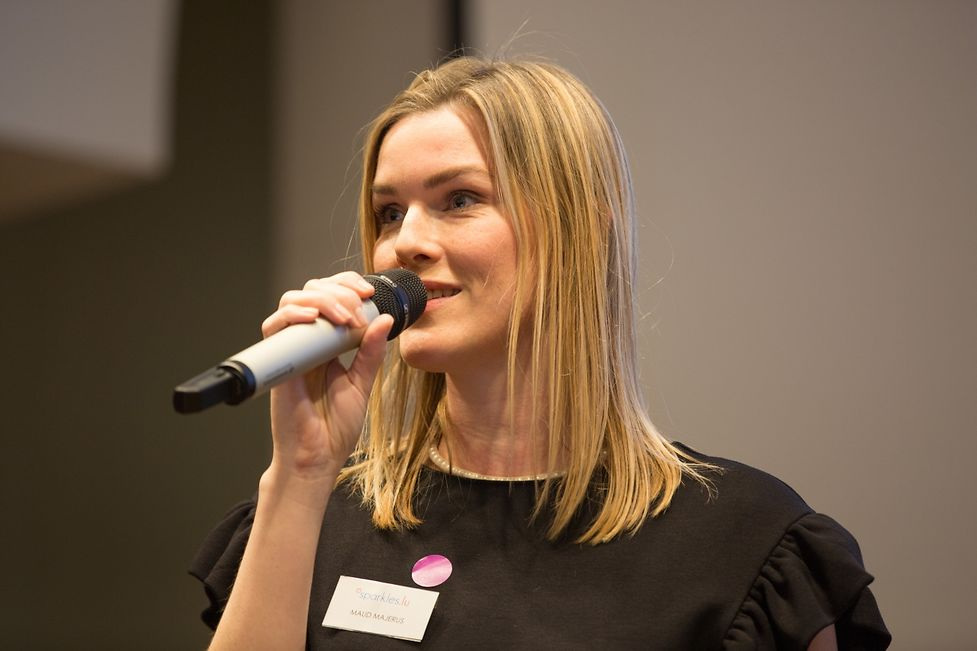 Locally business women can also seek financial support from Sparkles.lu, an initiative founded by Maud Majerus (pictured) who works for the European Investment Bank.