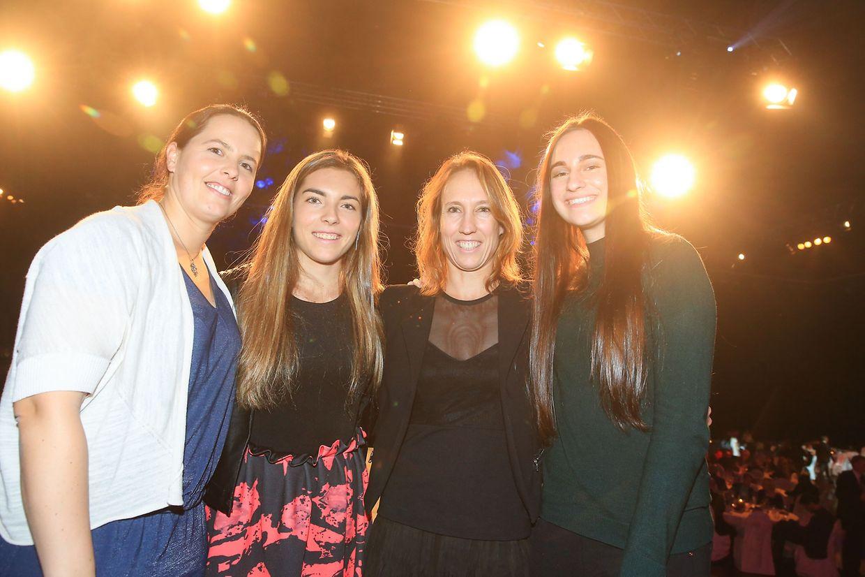 Das Fed-Cup-Team mit Claudine Schaul, Eléonora Molinaro, Anne Kremer und Merima Mujasevic (v.l.n.r.).