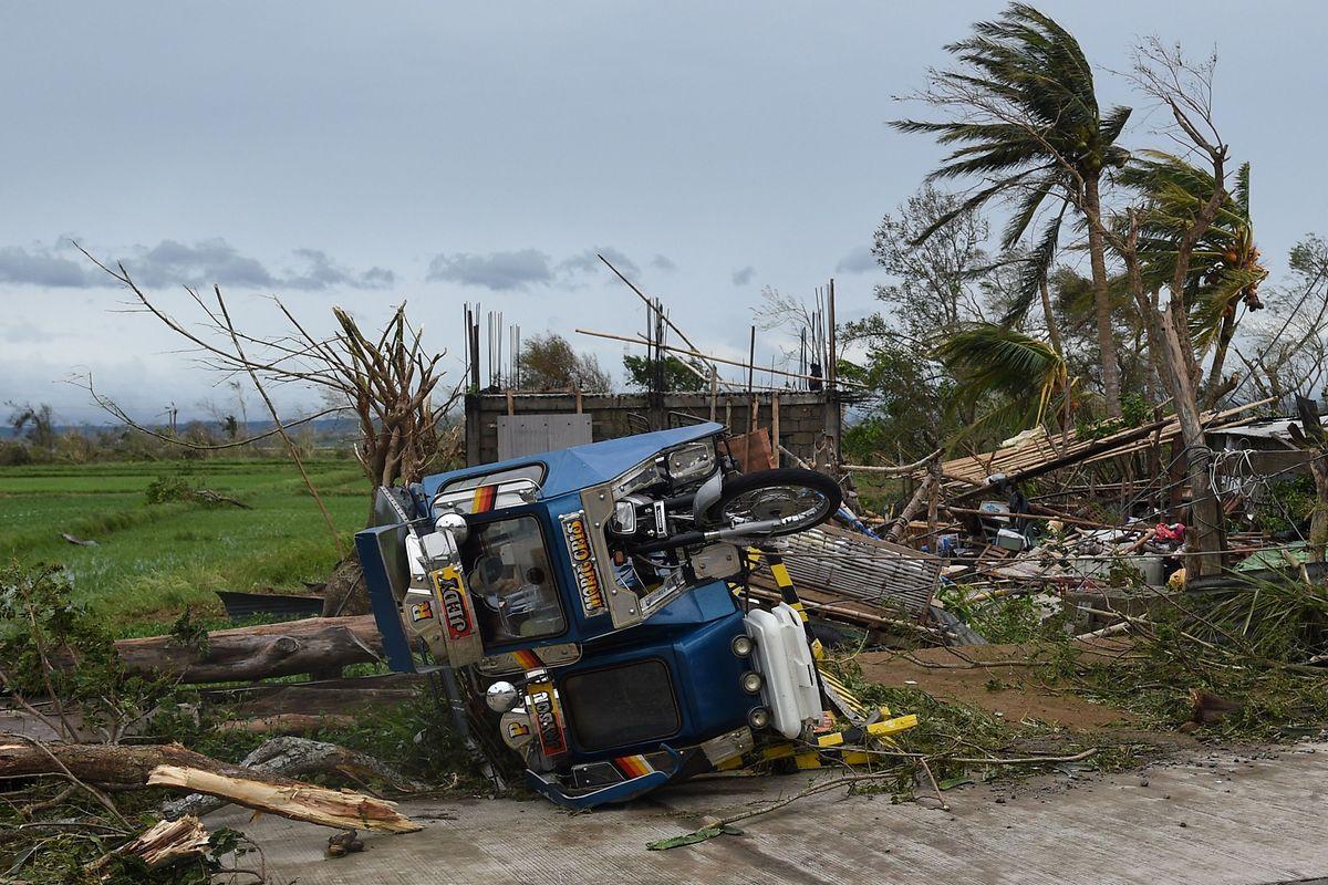Die Folgen des Taifuns in Nähe von Alcala.