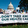 Schon mehrmals wurde vor dem Weißen Haus gegen die Abschaffung der Obamacre protestiert.