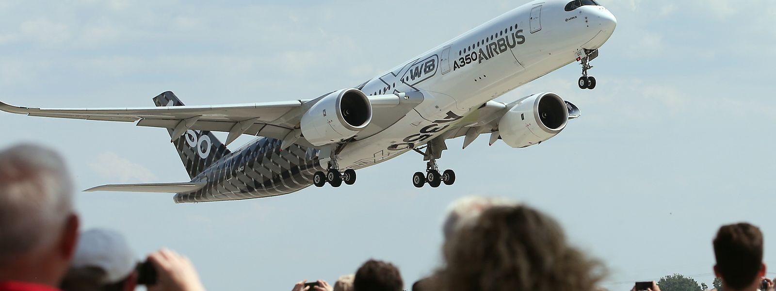 Eine Maschine des Typs Airbus A350.