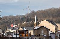Sueden , Ottange/Frankreich , Nachbargemeinde von Rumelange , Bau von Windrädern in Ottange Foto:Guy Jallay/Luxemburger Wort