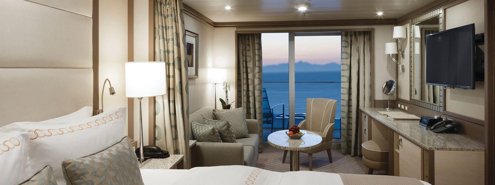 Silver Moon Veranda Suite – erleben Sie eins der höchsten Raum-zu-Gast-Verhältnisse auf See.