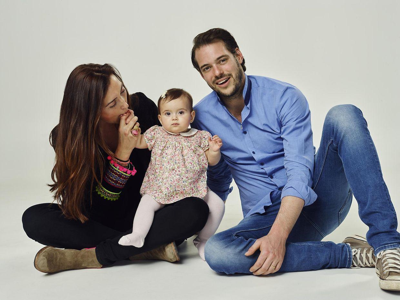 Prinz Félix mit seiner Frau Claire und Töchterchen Amalia.