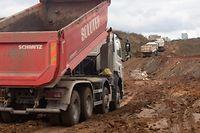 In Luxemburg herrscht seit Jahren ein ungebrochener Bauboom: In den Bauschuttdeponien wie hier in Colmar-Berg herrscht Hochbetrieb.