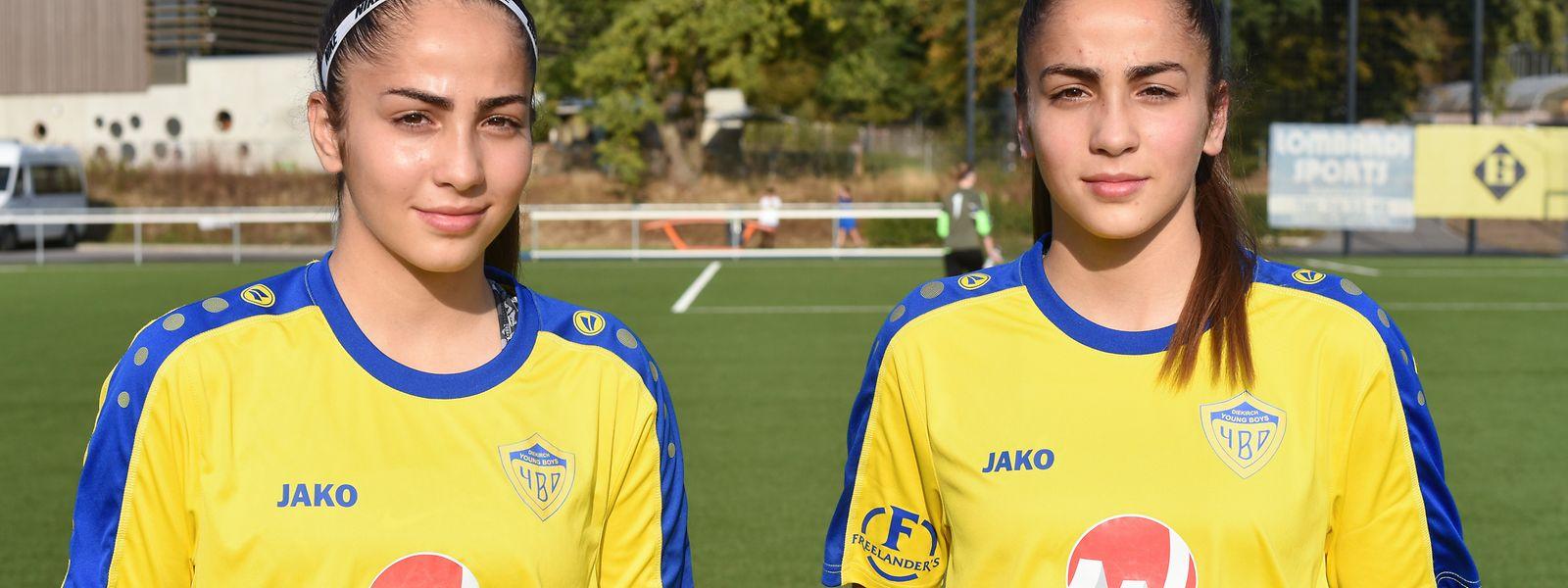 Mariana und Joana (r.) Lourenco spielen gemeinsam in Diekirch.