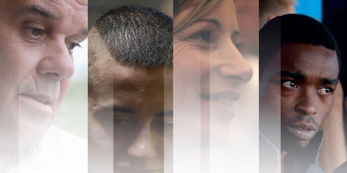 Os quatro protagonistas do filme: Fernando Santos, Jonathan Loureiro, Isabel Oliveira e Carlos Borges
