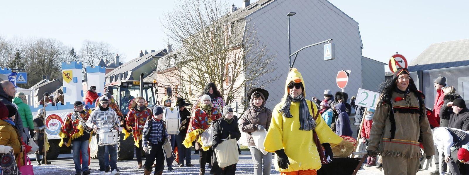 Am Sonntag findet die 25. Auflage der Kinderkavalkade in Kayl statt. Die Fußgruppe der Harmonie Ste Cécile Kayl war bisher jedes Jahr dabei.