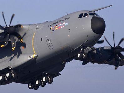A400M im Anflug: Anfang 2019 soll Luxemburg seinen ersten Militärflieger erhalten.