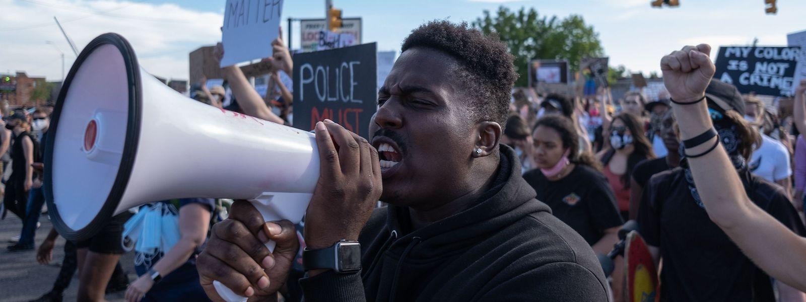 Demonstranten in den USA.