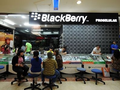 BlackBerry, which a decade ago was among the largest smartphone makers, has seen its global market share slip to less than one percent amid domination by Apple and Android devices.