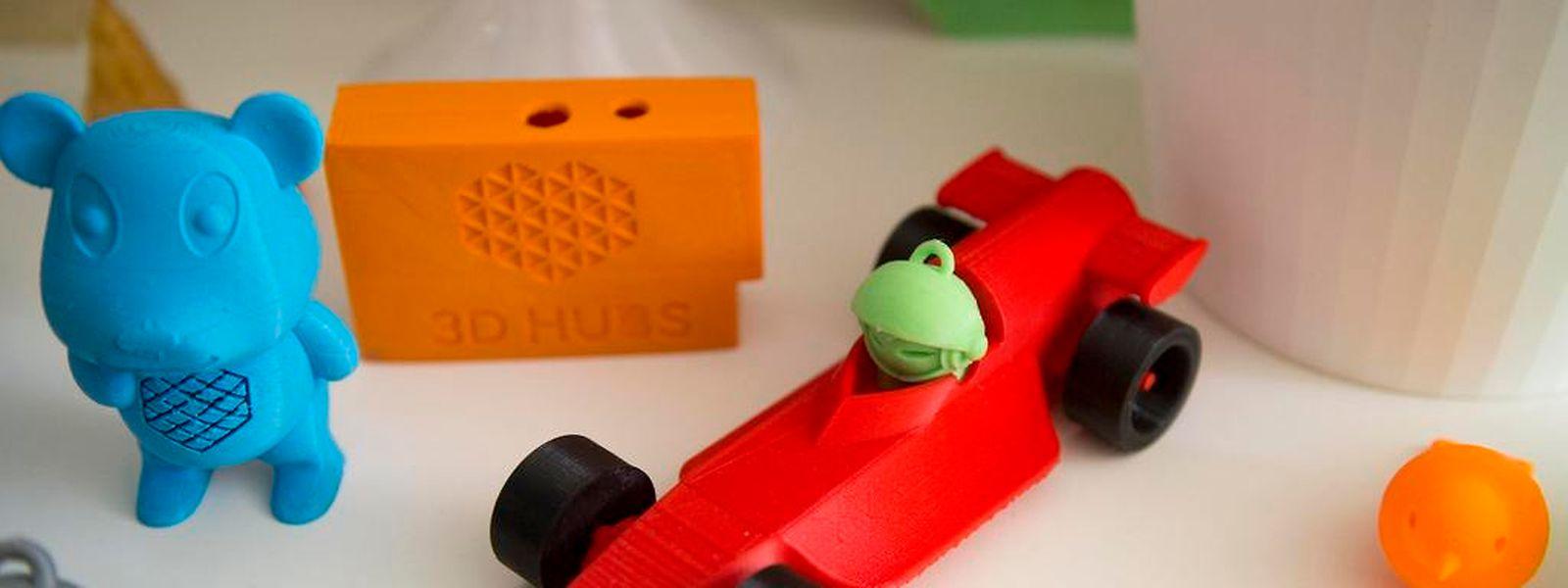 Diese Spielzeuge sind einem 3D-Drucker entsprungen.