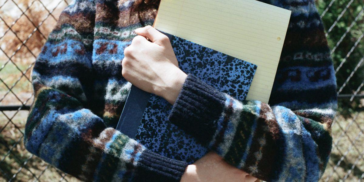 Bunte Mischung: Pullover aus schottischer Schafwolle von Howlin', um 270 Euro.
