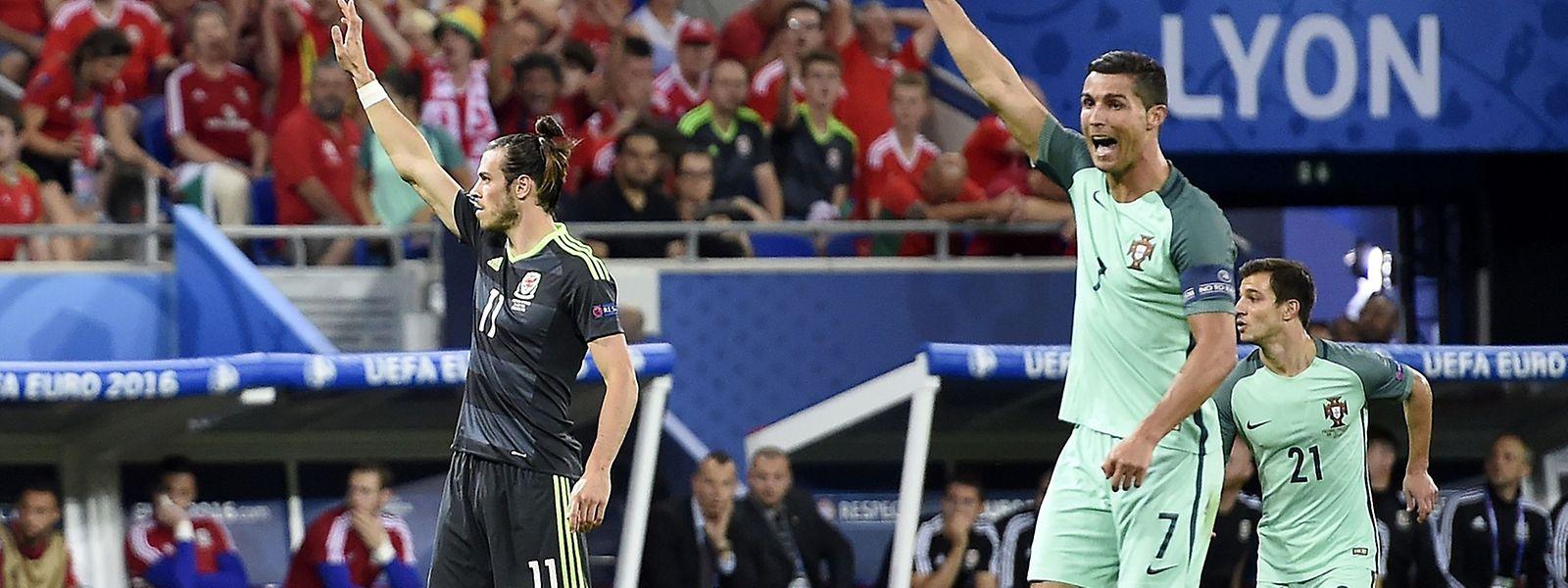 """Das """"Real-Duell"""" Bale gegen Cristiano Ronaldo endete Unentschieden - das Spiel dagegen nicht."""