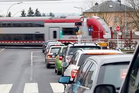 Mehr zu, als offen: Die Bahnschranke in Dippach-Gare sorgt täglich für erhitze Gemüter bei den Autofahrern und Anwohnern.
