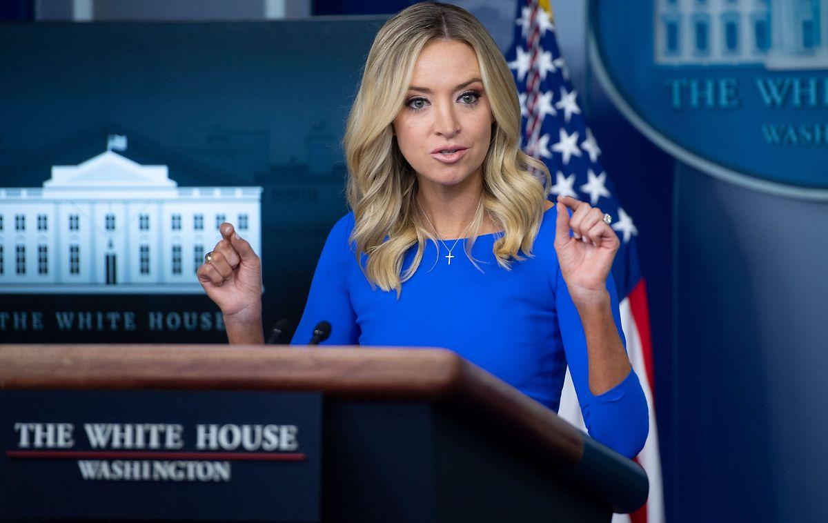 Die Pressesprecherin des Weißen Hauses, Kayleigh McEnany, bekam von Twitter offenbar einen Maulkorb verpasst.
