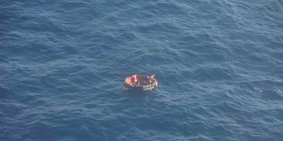 Three crew members of Luxembourg-registered ship lost in 2019 hurricane seen in their life raft before being rescued