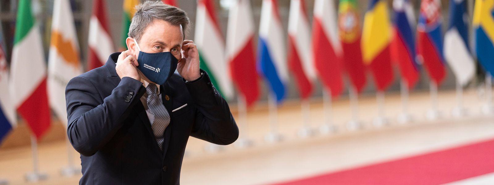 Le Premier ministre Xavier Bettel (DP) est arrivé jeudi à Bruxelles.