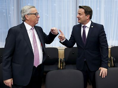 Former Luxembourg PM and European Commission chiefJean-Claude Juncker , and current PM Xavier Bettel