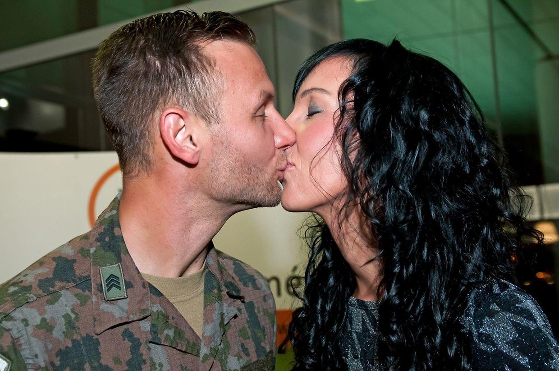 Accueil des militaires du Kosovo au Findel