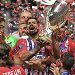 Der Jubel war groß bei den Spielern von Atletico Madrid.