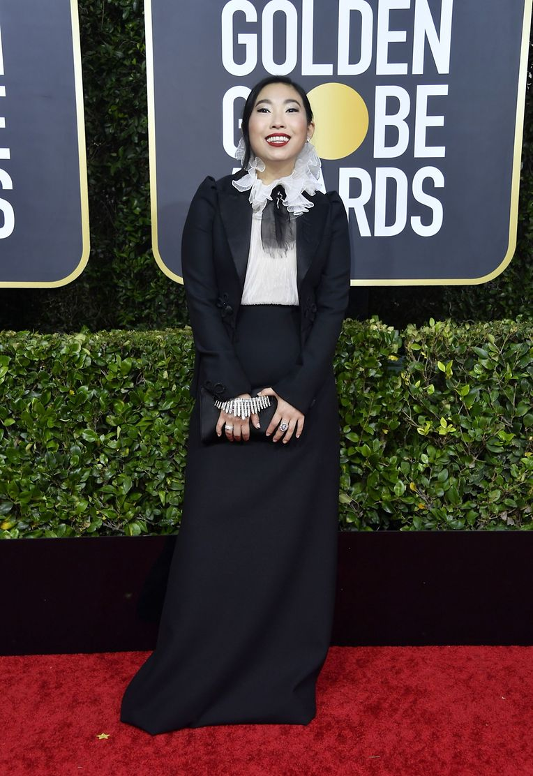 Braves Outfit, keckes Lächeln: Awkwafina in Dior.