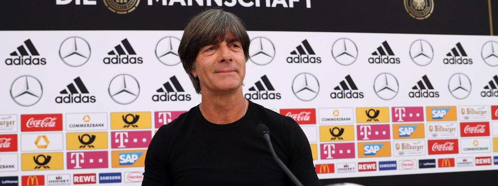 Joachim Löw, treinador da Alemanha, atual campeão mundial em título.