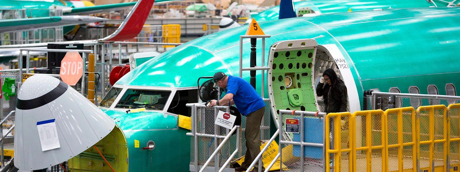 Die Montage der Boeing 737 MAX läuft vorerst auf Sparflamme.