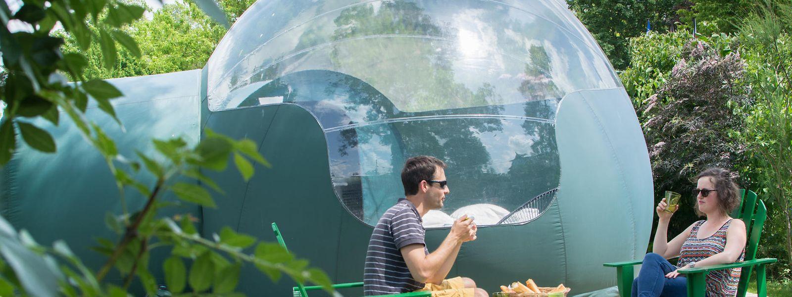 Bubble-Zelte bieten freien Blick in den Sternenhimmel sowie Schutz vor Wind und Wetter.