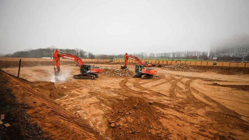 "Die Arbeiten am Projekt ""Domaine du Kiem"" in Kirchberg begannen im Januar."