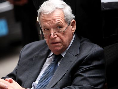 CHICAGO, IL - APRIL 27: Former House Speaker Dennis Hastert leaves the Dirksen Federal Court House in a wheelchair after his sentencing on April 27, 2016 in Chicago, Illinois. Hastert was sentenced to 15 months in prison and ordered to pay $250,000 to a victim's fund for breaking banking laws as he sought to pay a man identified only as Individual A, 14-years-old at the time, millions of dollars to keep quiet about past sexual abuse. The abuse occured during Hastert's years as wrestling coach at Yorkville High School decades ago.   Joshua Lott/Getty Images/AFP == FOR NEWSPAPERS, INTERNET, TELCOS & TELEVISION USE ONLY ==