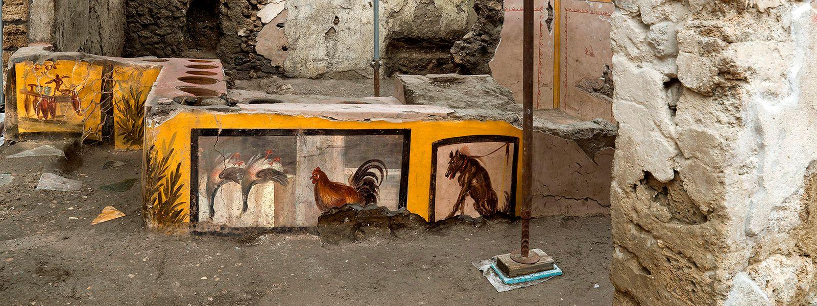 """Die """"Snack Bar"""", wie sie das Museum bezeichnete, sei eine der ältesten in Pompeji, teilte der Parco Archeologico mit."""
