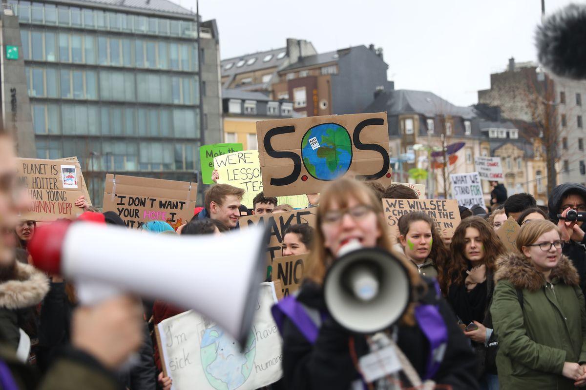Des milliers de jeunes Luxembourgeois ont défilé dans les rues de la capitale en février et mars 2019.