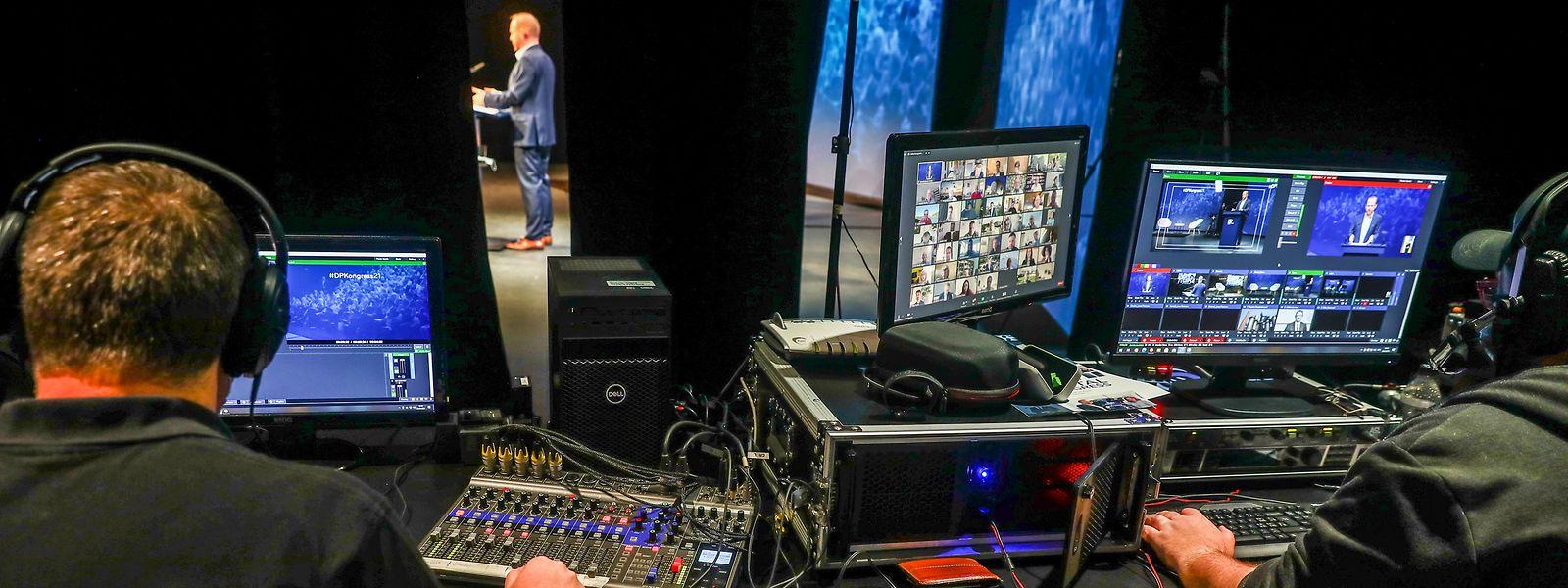 Beim zweiten digitalen Kongress der DP gab es viel Selbstlob und die Aussicht auf Workshops, um die Zukunft des Landes zu planen.