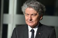 (FILES) In this file photo taken on April 04, 2019 Thierry Breton, CEO of European IT services corporation Atos looks on prior to inaugurate the Atos' artificial intelligence (AI) lab, on April 4, 2019 at Atos headquarters in Bezons, near Paris. - Atos Chairman and CEO Thierry Breton and former French Economy Minister, Thierry Breton is appointed by Emmanuel Macron to join the European Commission after the European Parliament's rejection of the previous French candidate, French Presidency announced on October 24, 2019. (Photo by ERIC PIERMONT / AFP)