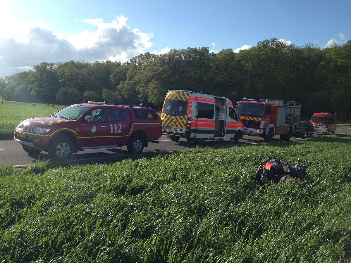 Die lokale Feuerwehr aus Consdorf und der Zivilschutz aus Echternach waren im Einsatz.