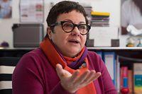 Interview Danielle Igniti au centre Culturel op der Schmelz, a Dudelange, Luxembourg, le 29 Janvier 2015. Photo: Chris Karaba
