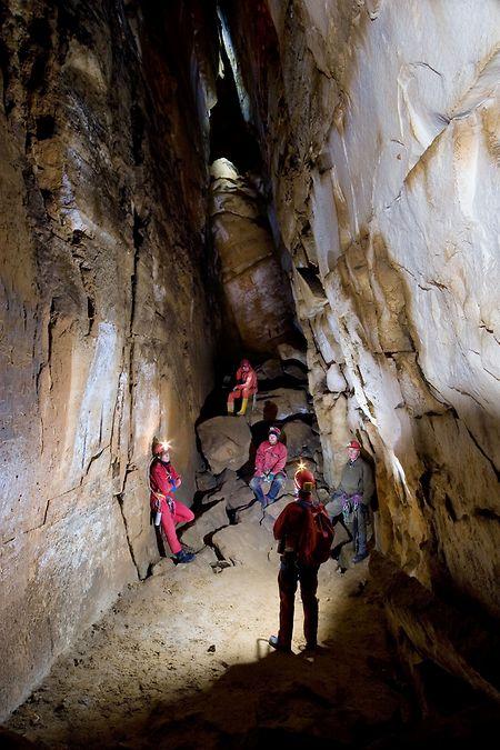 Die tiefste Stelle in der Grotte Ste-Barbe wird Kathedrale genannt.